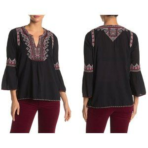 Johnny Was Willow Flare Sleeve Boho Blouse Size S